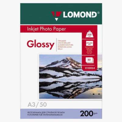 Фотобумага Lomond глянцевая A3, 200г/м2, 50л (0102024)