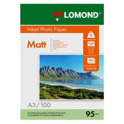 Фотобумага Lomond матовая A3, 95г/м2, 100л (0102129)