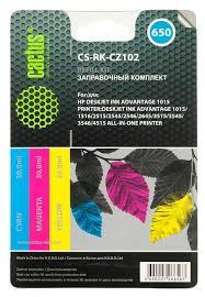 Заправочный комплект Cactus CS-RK-CZ102 многоцветный 90мл для HP DJ 2515/3515, артикул 292224