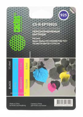 Картридж Cactus CS-R-EPT0925 черный/голубой/пурпурный/желтый набор карт. для Epson St C91/CX4300/T26