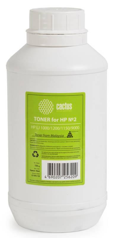Тонер Cactus 893870 CS-THP2-150 черный флакон 150гр. для принтера HP LJ 1000/1200/1150/9000