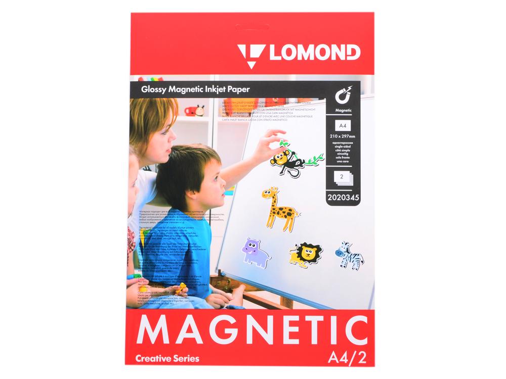Фотобумага Lomond односторонняя глянцевая с магнитным слоем А4, 660 гм2, 530 мкм, 2л (2020345)