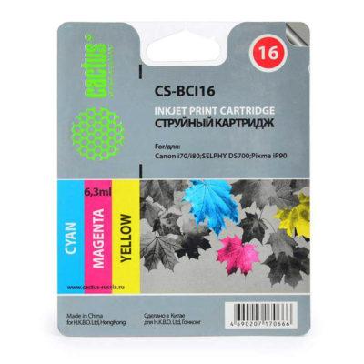 Картридж струйный многоцветный CS-BCI16 для Canon