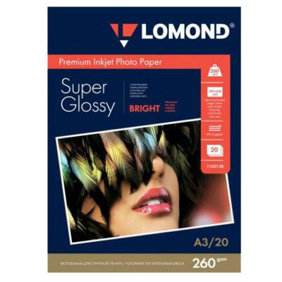 Фотобумага Lomond суперглянцевая А3, 260г/м2, 20л (1103130)
