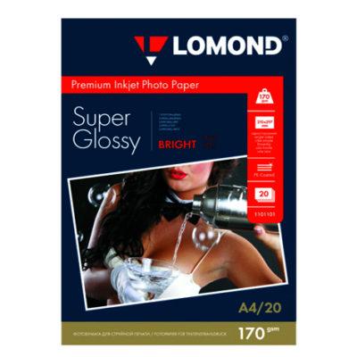 Фотобумага Lomond суперглянцевая А4, 170г/м2, 20л (1101101)