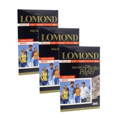Фотобумага Lomond суперглянцевая 10x15, 260г/м2, 20л (1103102)