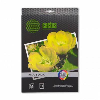 Фотобумага Cactus A4 набор бумаги различной плотности и фактуры CS-MIXPACK , 10 л. 805863