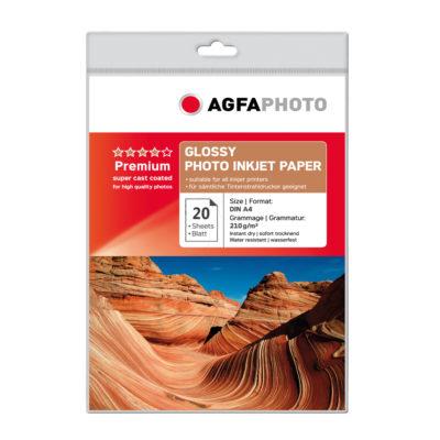 Фотобумага AGFA глянцевая, А4, 210 г/м2, 20 листов, артикул 2.03.02