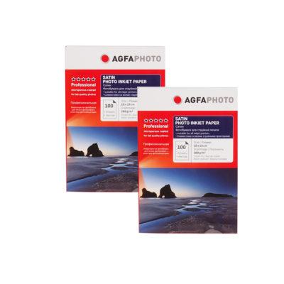 Фотобумага AGFA сатин, 10х15, 260 г/м2, 100 л