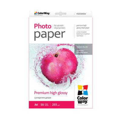 Фотобумага ColorWay суперглянцевая 255 г/м², A4, 50 л