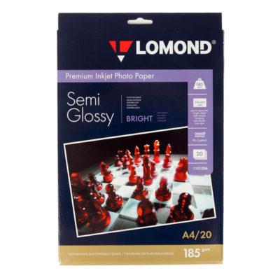 Фотобумага Lomond полуглянцевая А4, 185г/м2, 20л (1101306)