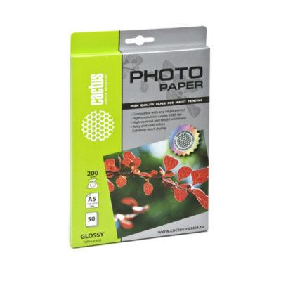 Фотобумага Cactus А5 200 г/м2 глянцевая, 50 л (CS-GA520050)