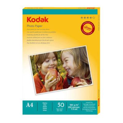 Фотобумага Kodak матовая односторонняя 180 г/м², A4, 50 л