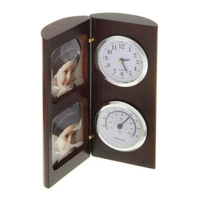 Набор настольный: часы, термометр, 2 фоторамки подарки