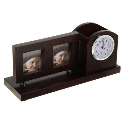 Набор настольный: часы, фоторамка, подставка для ручек