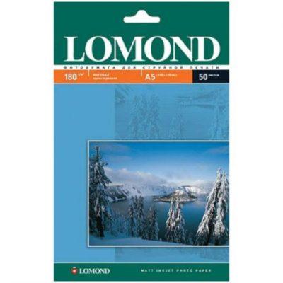 Фотобумага Lomond односторонняя матовая А5, 180г/м2, 50л (0102068)