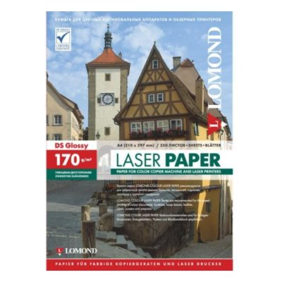 Фотобумага Lomond двухсторонняя глянцевая для лазерной печати A4, 170гм2, 250л (0310241)