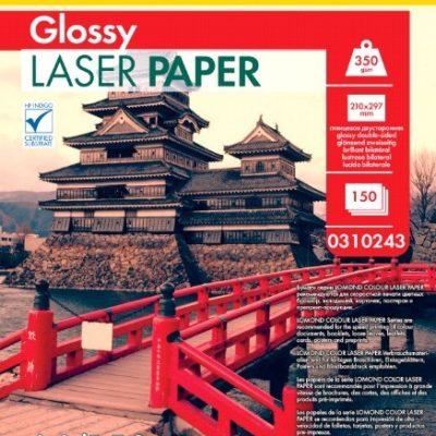Фотобумага Lomond двухсторонняя глянцевая для лазерной печати A4, 350гм2, 150л (0310243)