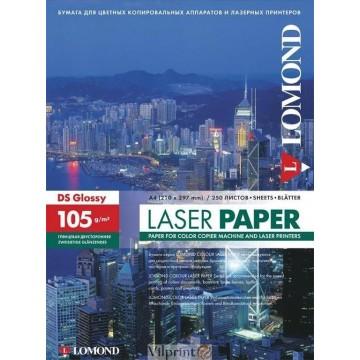 Фотобумага Lomond двухсторонняя глянцевая для лазерной печати A4, 105г/м2, 250л (0310641)