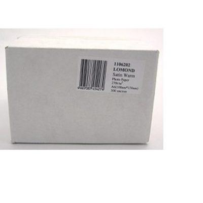 Фотобумага Lomond Атласная односторонняя микропористая фотобумага для струйной печати, Тёпло-белый цвет, A6, 270 г/м2, 500 л. (1106202)