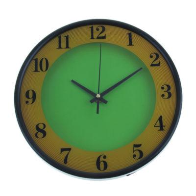 """Часы настенные """"Два цвета"""", цвет желто-зеленый 1031014"""