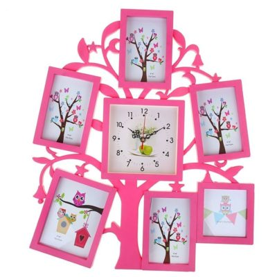 Часы настенные «Древо», цвет розовый (1296080)