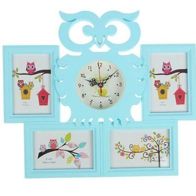 Часы настенные «Совушка», цвет голубой (1588290)