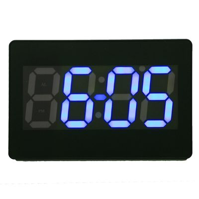 Часы настенные электронные AOYE: время, дата, будильник, температура, цифры белые, 220 В (1716979)