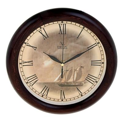 Часы настенные «Корабль» деревянные 197115
