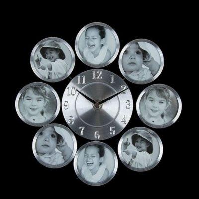 """Часы настенные """"Классика"""", 8 фоторамок (761000)"""