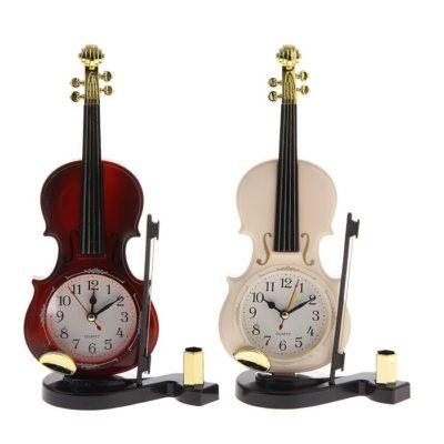 Часы настольные «Скрипка со смычком на подставке» (1144538)