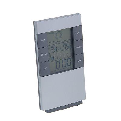 Часы-будильник LuazON LB-01, LED подсветка, серые (1163450)