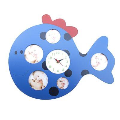 """Часы настенные детские, 5 фоторамок """"Кит""""(118743)"""