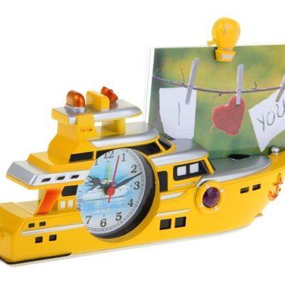 Часы настольные «Катер» с фоторамкой (1199215)