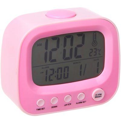 """Часы-будильник """"Телевизор"""", розовый (184541)"""