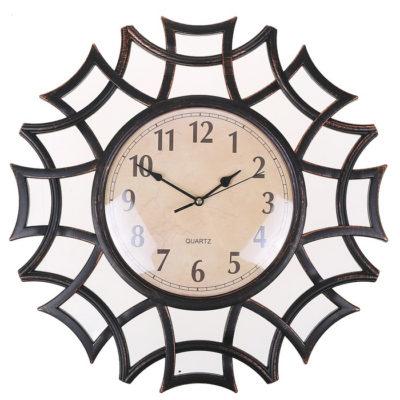 """Часы настенные """"Лепнина"""", рама-ветви, чёрные, d=40 см (2354174)"""