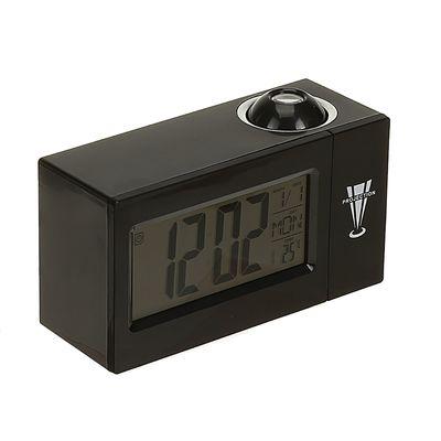 Часы-будильник LuazON LB-13, с проектором, вход DC, черный (2372388)