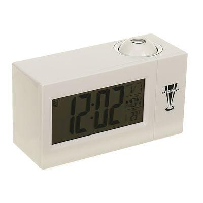 Часы-будильник LuazON LB-14, с проектором, вход DC, белый (2372389)