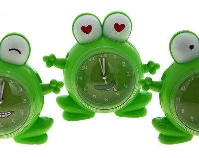 Часы настольные «Лягушка», цвет зеленый (729408)