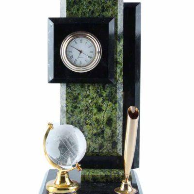Визитница «Стелла» под ручку с часами и глобусом (805324)