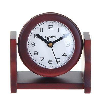 """Часы """"Дерево, Круг"""" на вращающейся подставке, сосна (872884)"""
