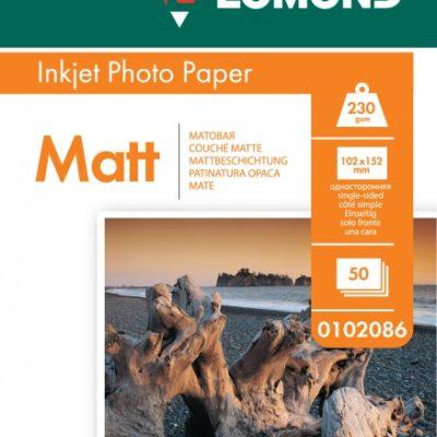 "Фотобумага Lomond односторонняя матовая 4""x 6"" (102х152 мм), 230гм2, 50л (0102086)"