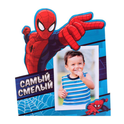 """Фоторамка """"Самый смелый"""", Человек-паук, для фото 10 х 15 см"""