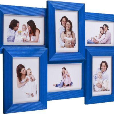 Фотоколлаж на 6 фото 10х15 см, 5N, голубой