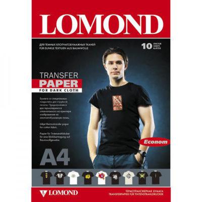 Lomond. Термотрансферная бумага для струйных принтеров, для темных тканей. Эконом. A4, 140 гм2, 10 л.( 0808451)