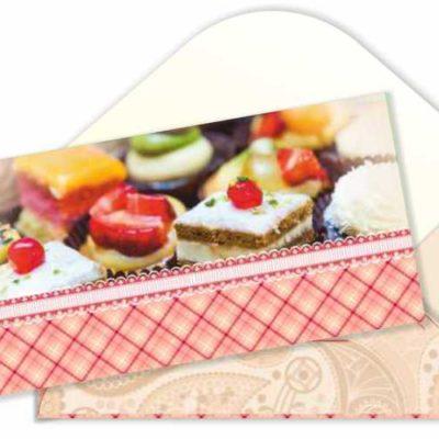 Конверт для денег «Пироженки!»