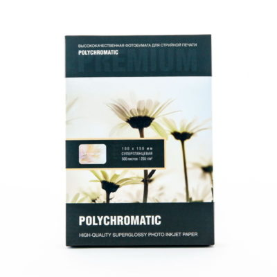 Фотобумага Polychromatic профессиональная 10х15 суперглянцевая 255 г/м 500л., 70856