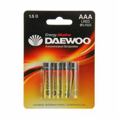 Элемент питания Daewoo LR 03 BL-4 (шт.), 31282