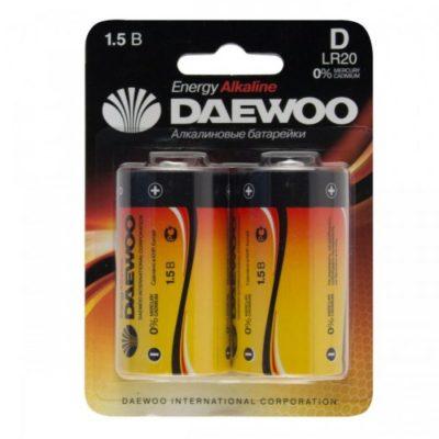 Элемент питания Daewoo LR 20 BL-2 (шт.), 37943