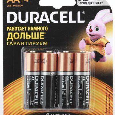 Элемент питания Duracell LR 06 BASIC CN 4BL (шт.), 70878